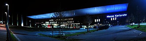 Die Messe Karlsruhe: Ein wenig zu groß und nicht flexibel genug für das Forum Wissenschaftskommunikation. (Foto: Korbmann)