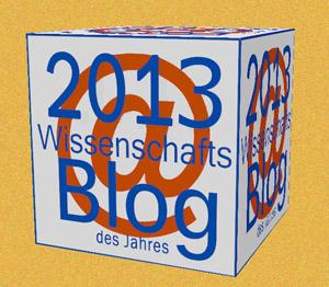 Der Wissenschafts-Blog in Gold - Trophäe für den Sieger.