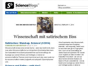 scienceblogs.de - deutsches Wissenschafts-Blogportal mit amerikanischen Eltern.