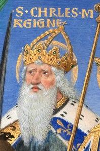 So stellt man sich Mittelalter eher vor - Eine historische Darstellung von Karl dem Großen.