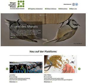 Bürger zu Akteuren der Wissenschaft machen: Website Citizen Science.