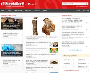 Zum Vergleich: Die EurekAlert-Website - Geschichten statt Listen.