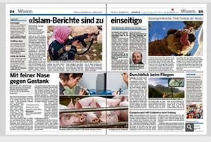 """Fremdfinanzierter Wissenschaftsjournalismus - Wissenschaftsseite im Gratisblatt """"20 Minuten""""."""