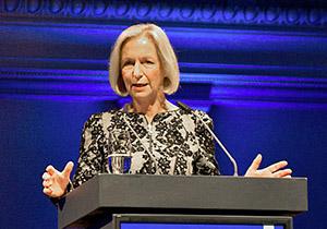 Bei der Wissenschaftskommunikation nicht auf dem Stand der Zeit: Forschungsministerin Johanna Wanka. (Foto: BMBF/Rickel)