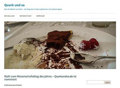 """Fachkundig, gut recherchiert und ohne Furcht vor großen Namen: Der Blog """"Quark und so""""."""