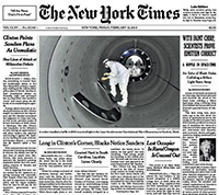 Echo der Medien: Die Titelseite der New York Times.