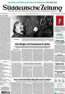Echo der Medien: Die Titelseite der Süddeutschen Zeitung.